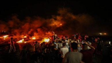 صورة وحدات الإرباك الليلي تستأنف فعالياتها على حدود غزة
